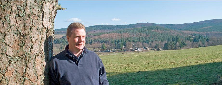 Mike Bruce, owner of the Glen Tanar Estate