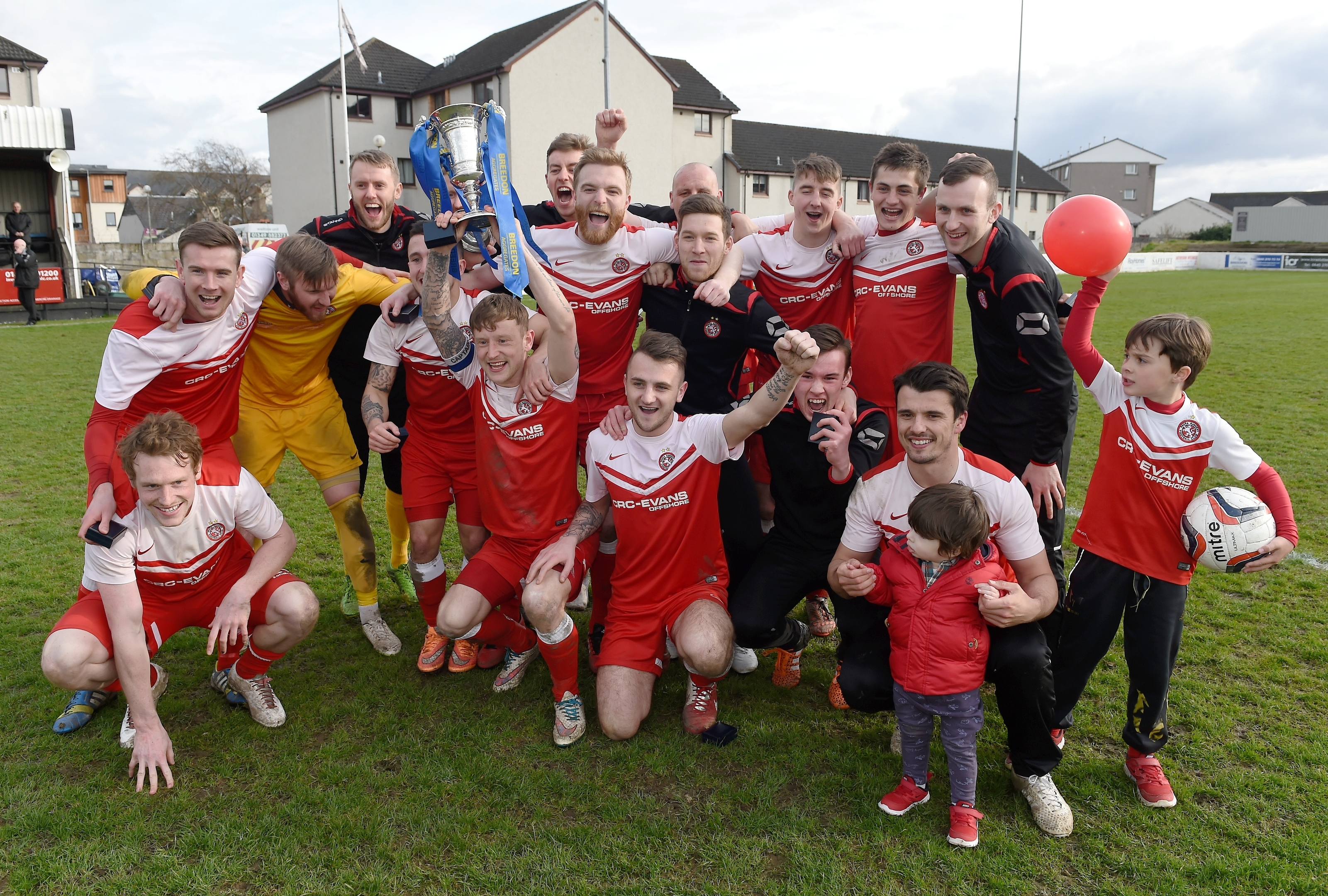 Nairn celebrate their cup win