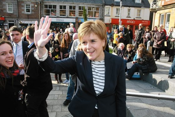 Nicola Sturgeon meets the crowds in Fort William