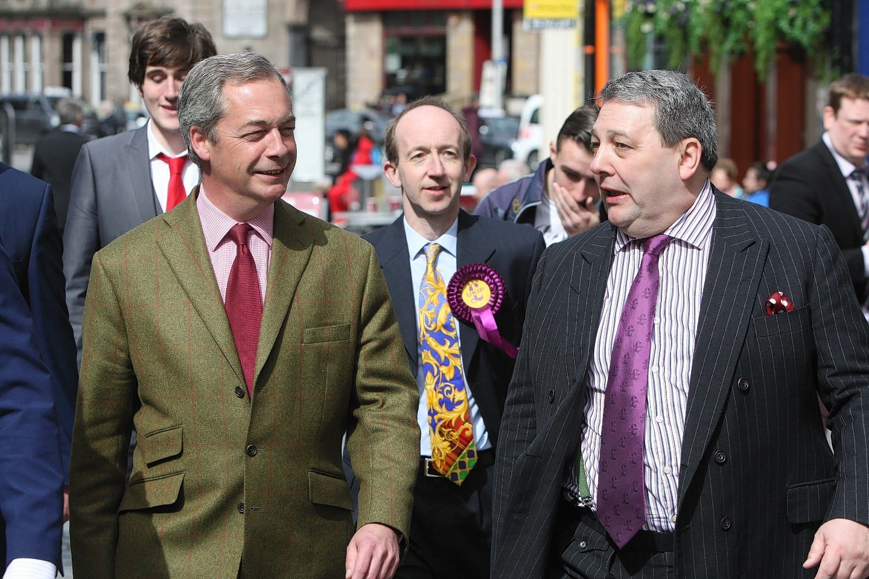 Nigel Farage and David Coburn in Inverness