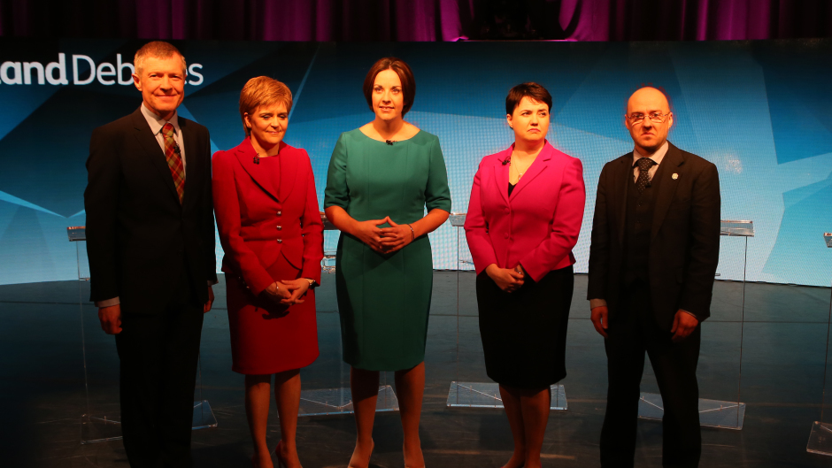 From left, Willie Rennie, Nicola Sturgeon, Kezia Dugdale, Ruth Davidson and Patrick Harvie will be appealing for votes in the run up to May 5