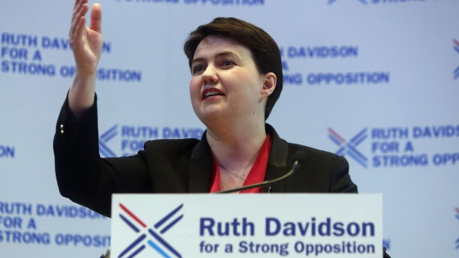 Ruth Davidson is visiting Peterhead, Keith and Oban today on a helicopter tour.