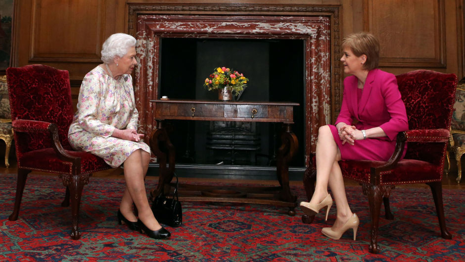First Minister Nicola Sturgeon wished the Queen a happy birthday