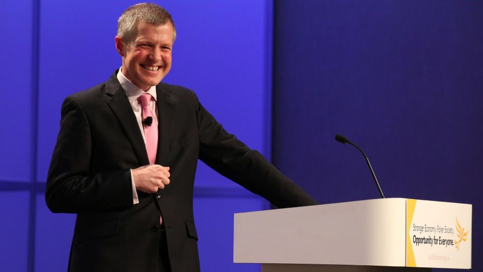 Willie Rennie put himself forward as a candidate to be Scotland's next First Minister