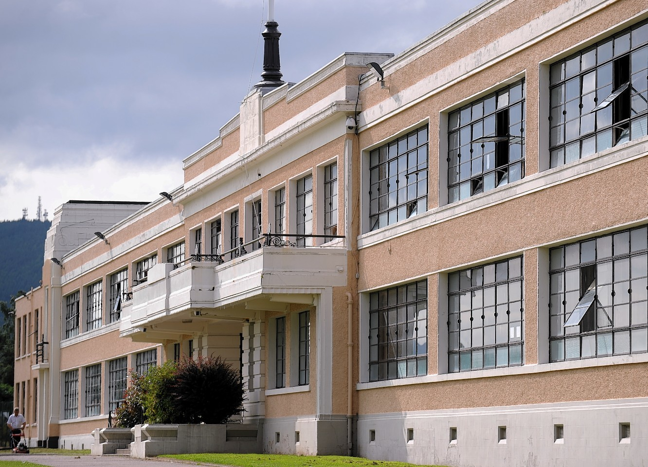 """Inverness High School  had to undergo an """"intense clean"""" to remove glass and blood from within the building"""