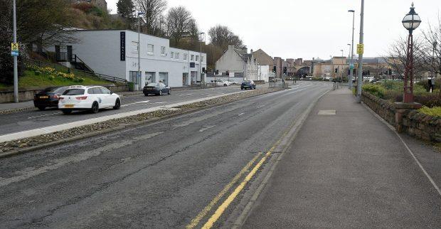 The injured man was found near Morrison's supermarket on Millburn Road