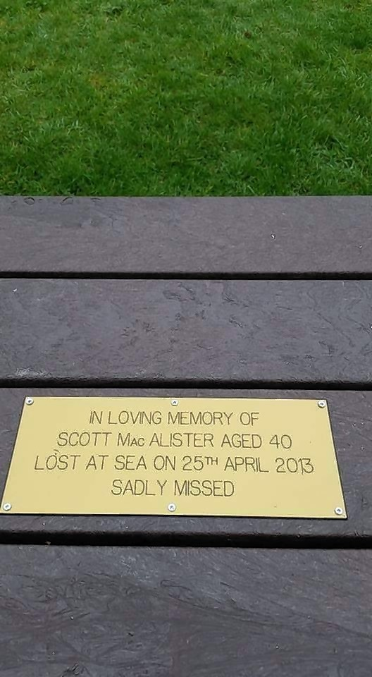 The plaque, paying tribute to Scott MacAlister