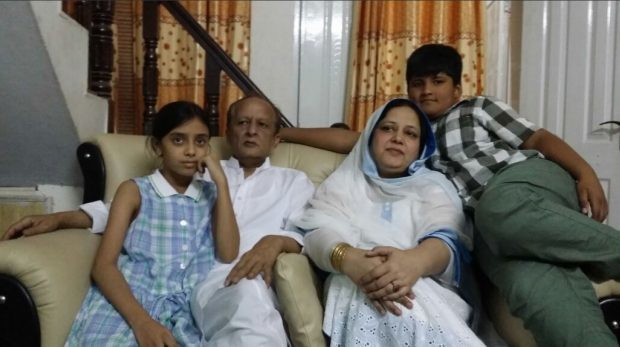 Chef Shahzad Shah with wife Naila and children Ali and Shehr.