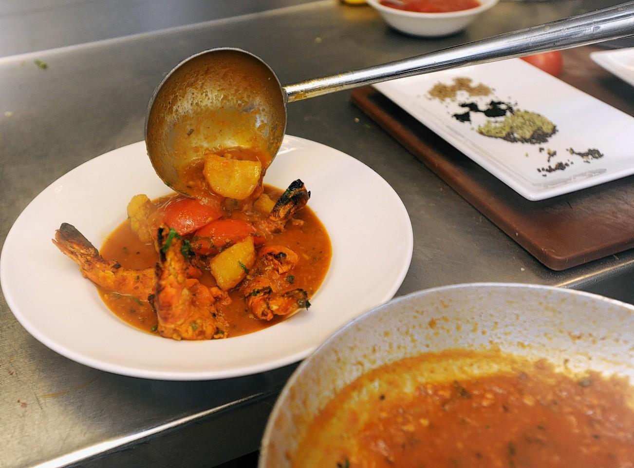 Curry at Shri Bheema in Aberdeen