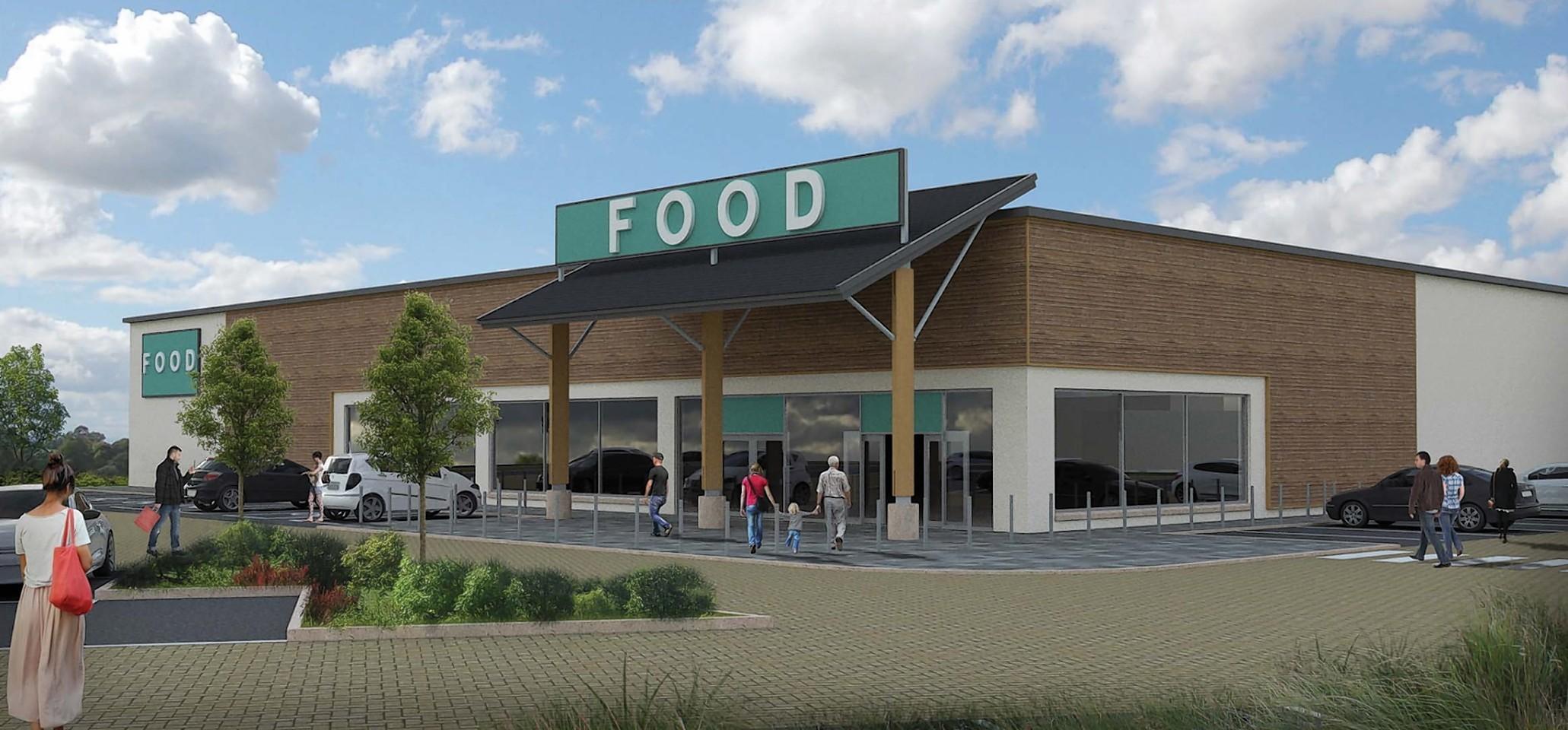 Artist impression of the supermarket plans for Stonehaven