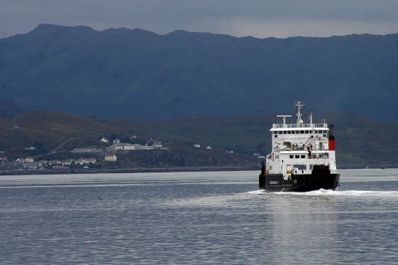 The service is operated by CalMac