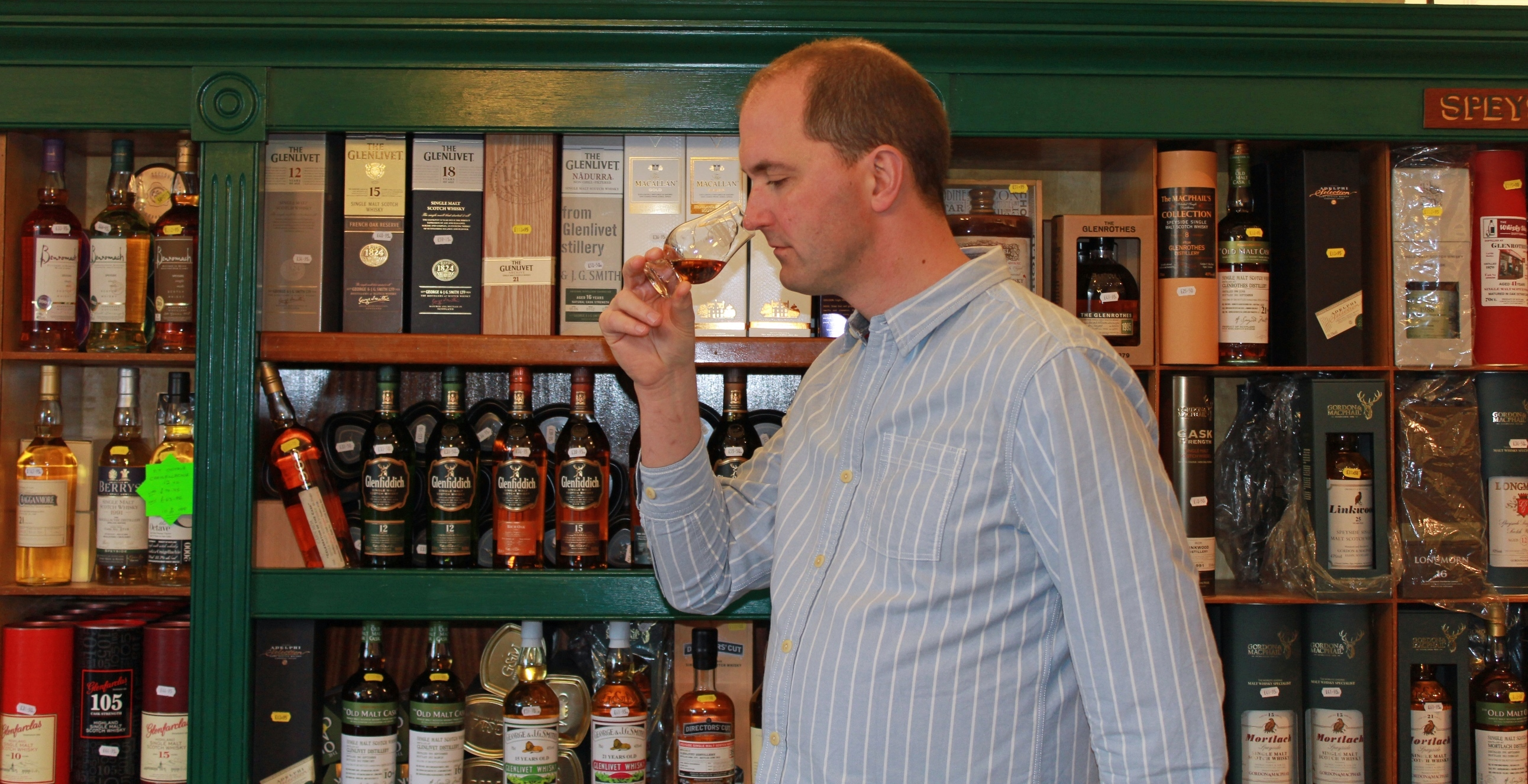 Mike Lord, owner of The Whisky Shop in Dufftown, is hosting events for the Spirit of Speyside Whisky Festival.