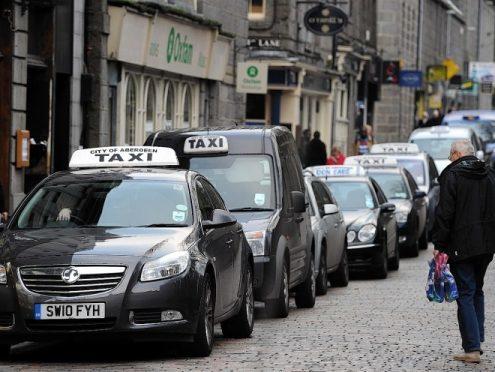 Aberdeen taxi rank.