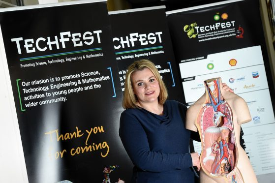 Techfest managing director, Sarah Chew, at their offices in Foresterhill Health Centre.