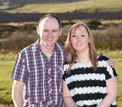 Linsey Donnelly with her husband Martin