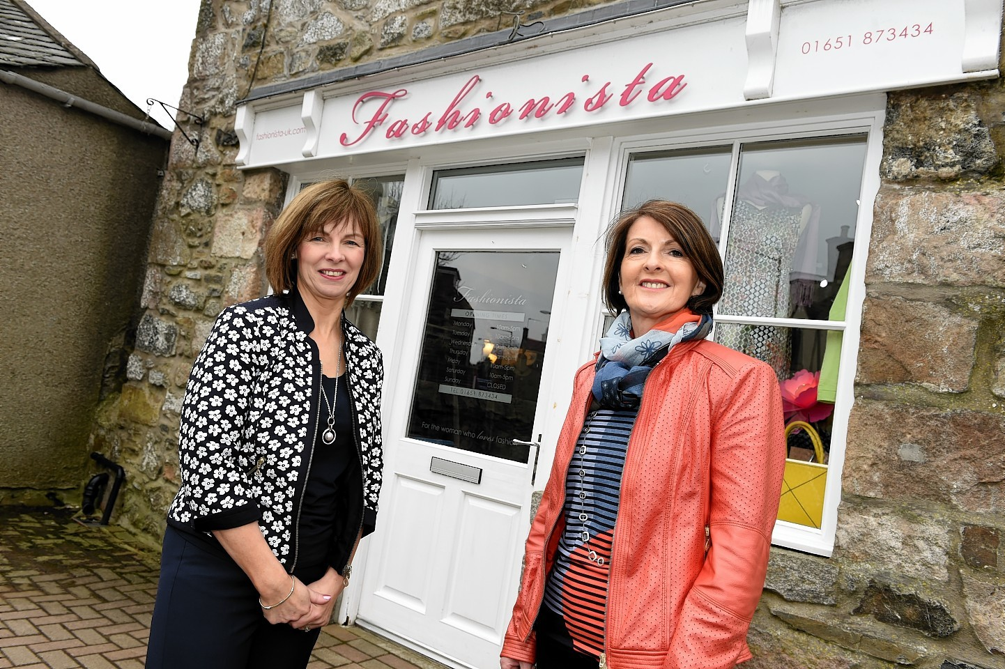 Elaine Penny and Anne Brand of Fashionista, Oldmeldrum