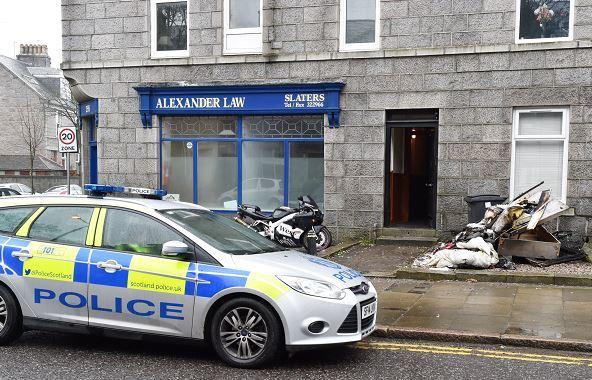Fifteen firefighters battled a blaze in Aberdeen's Union Grove. (Picture: Colin Rennie)
