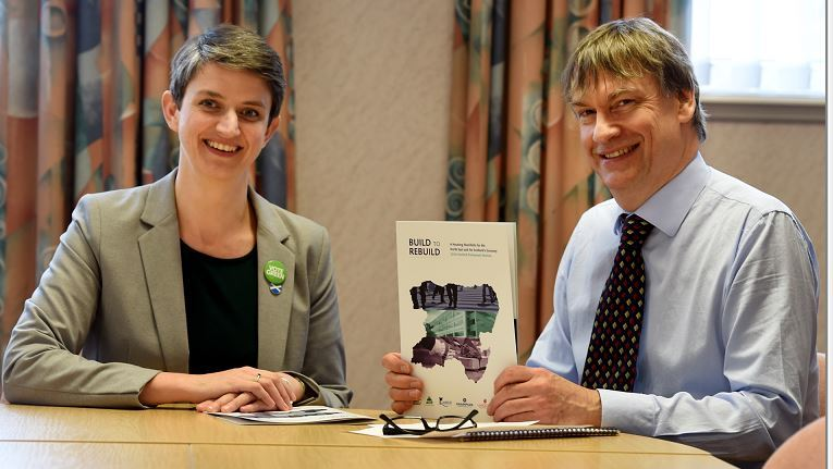 Maggie Chapman, Green Party and Neil Clapperton, CEO for Grampian Housing Association. (Picture: Jim Irvine)