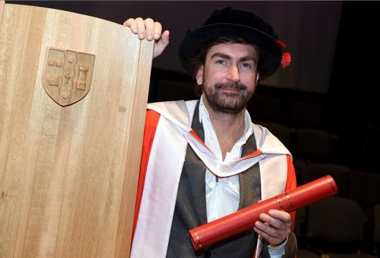 Leslie Benzies received an honorary degree at the Robert Gordon University in Aberdeen. (Picture: Kami Thomson)
