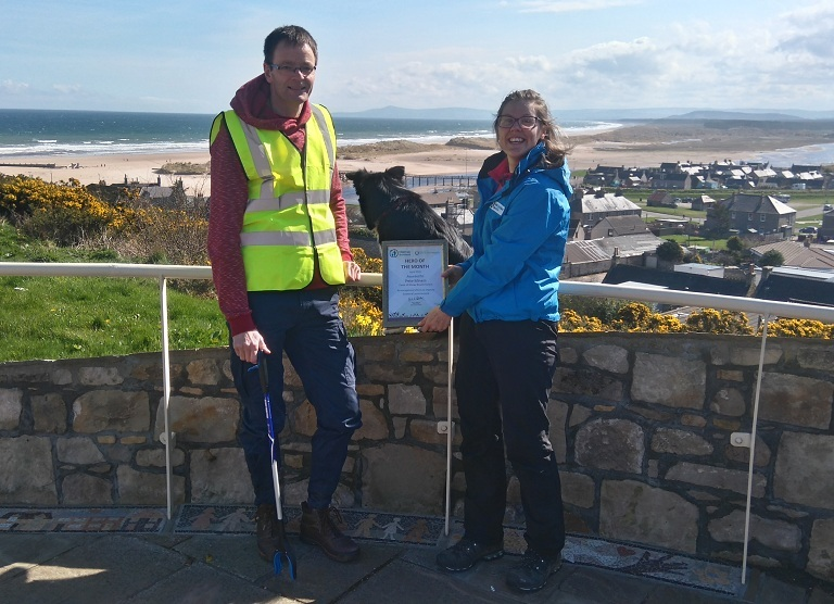 Pete Miners has collected thousands of discarded bottles from the Moray's waterways
