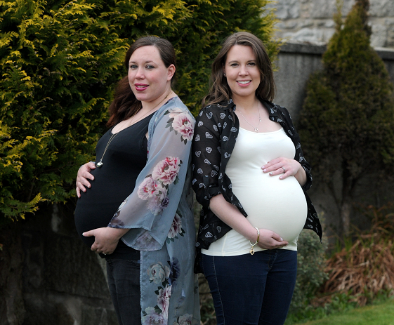 Sisters Amy Miller and Hannah Goonan's babies are due to share the same birthday
