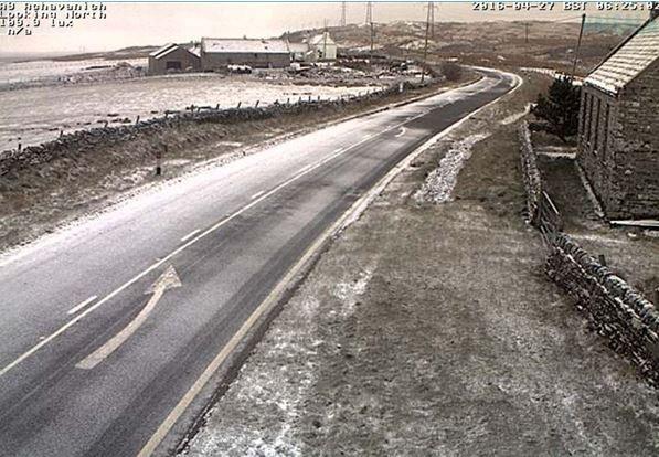 Snow on the A96