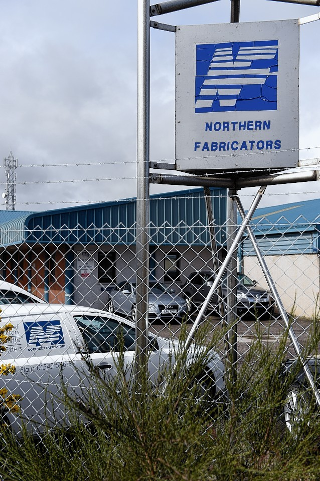 Northern Fabricators in Chanonry Industrial Estate was targeted by the thieves