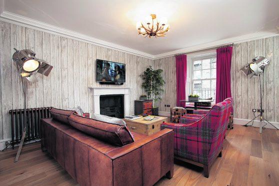 The lounge in the Rutland, Edinburgh