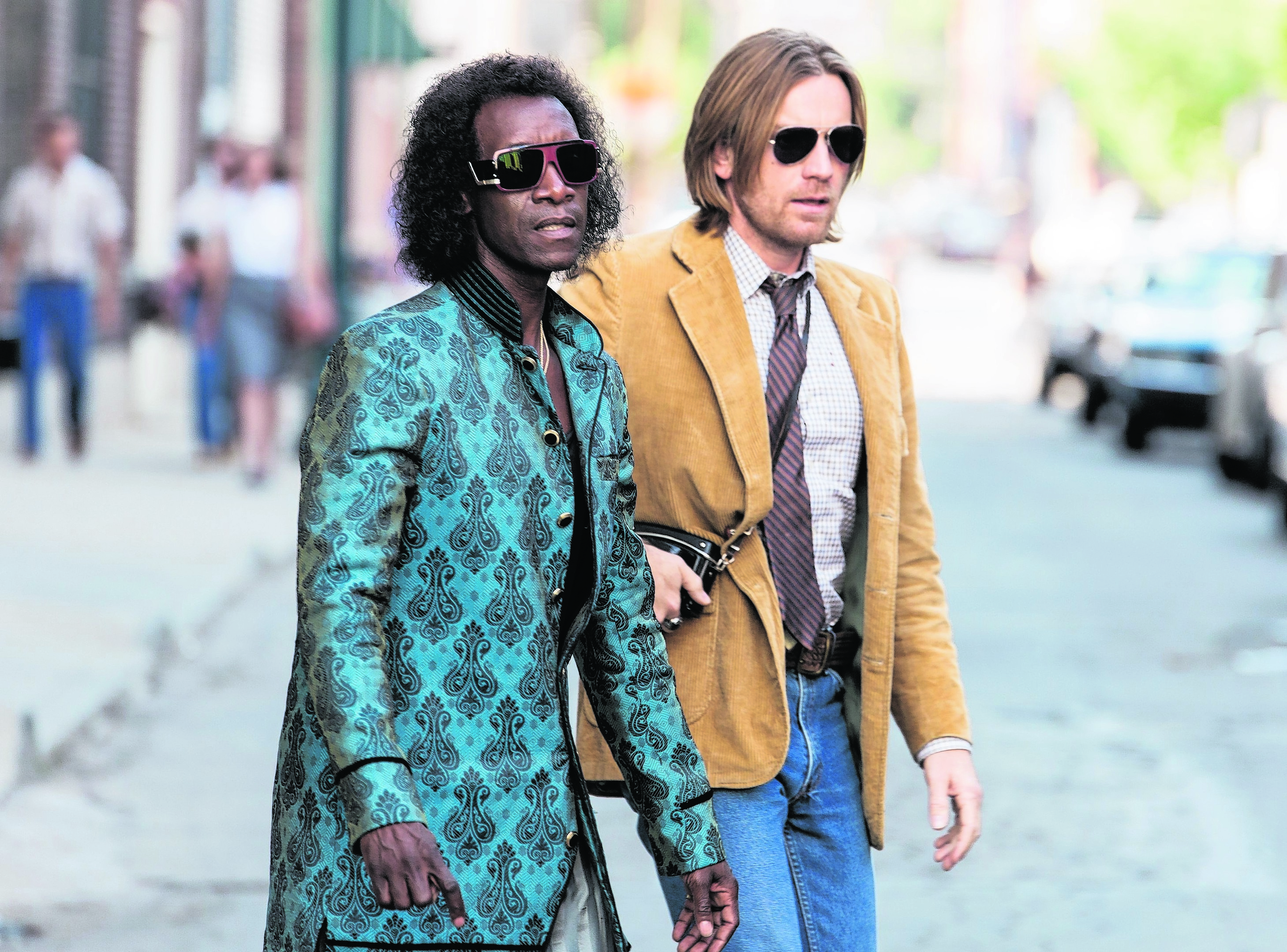 Don Cheadle and Ewan Macgregor in Miles Ahead