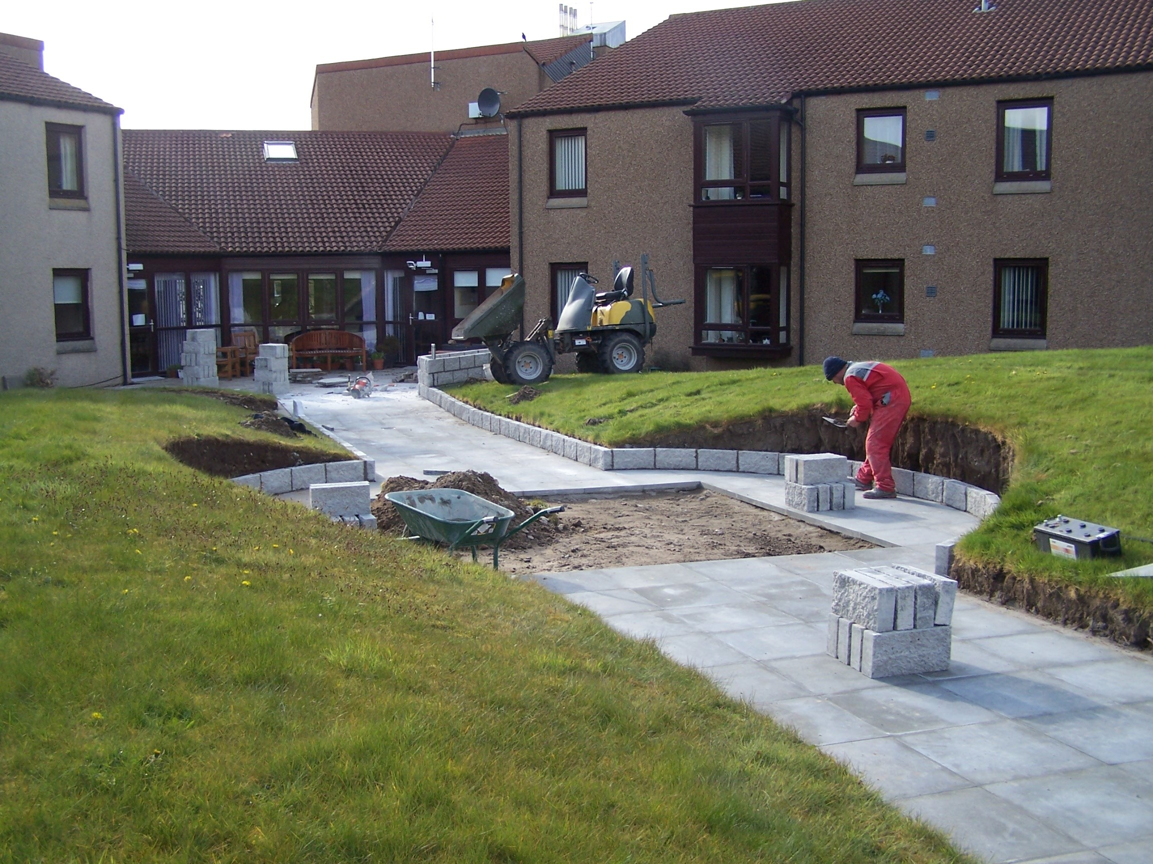 The new garden at Burnside Court is nearing completion.