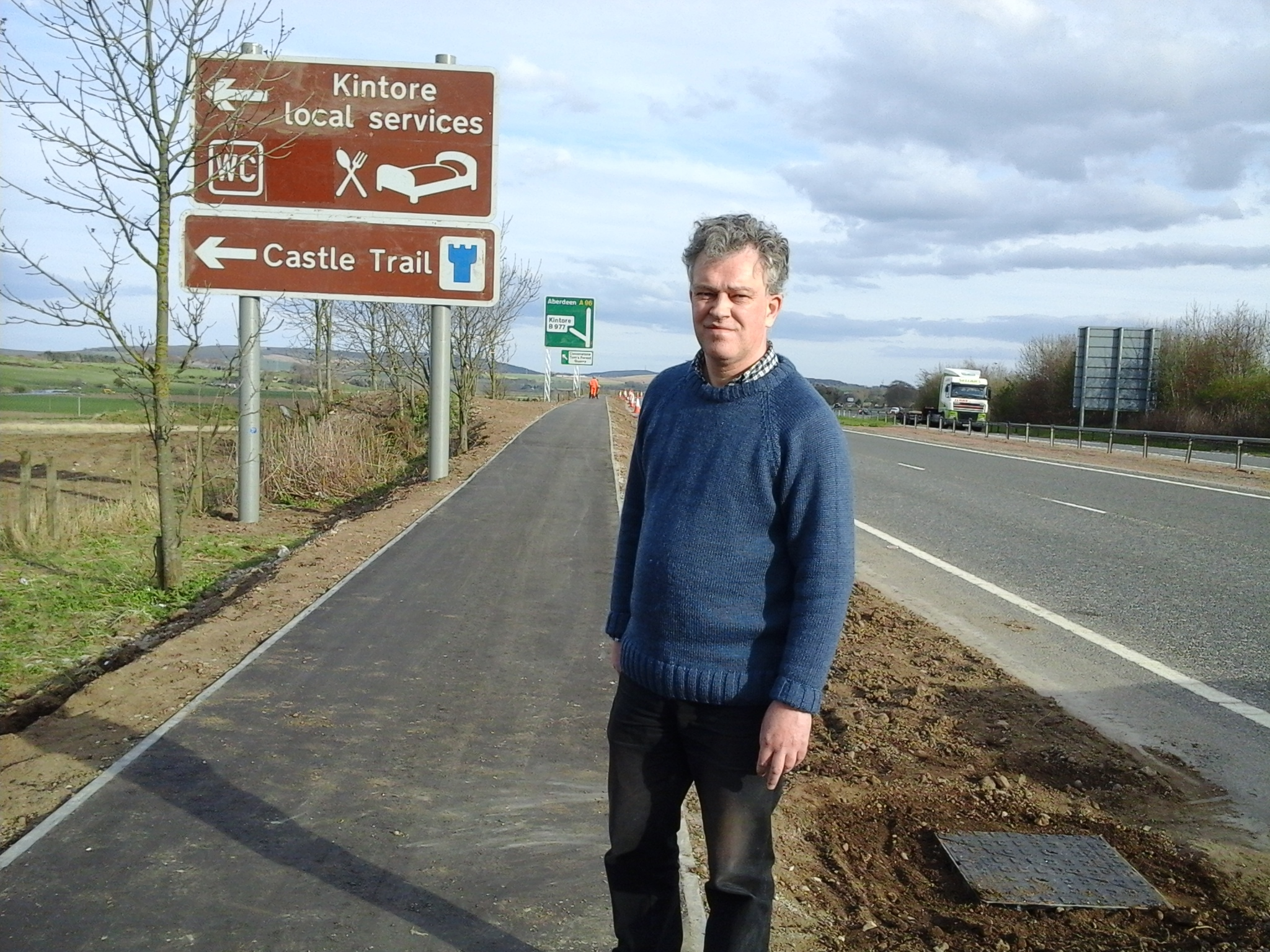 Councillor Martin Ford on the new A96 pathway