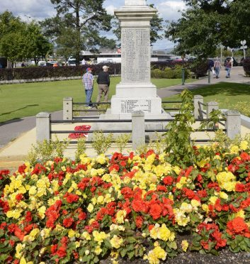 Fort William's Parade and war memorial, bright with blooms before Highland Council stopped planting the beds