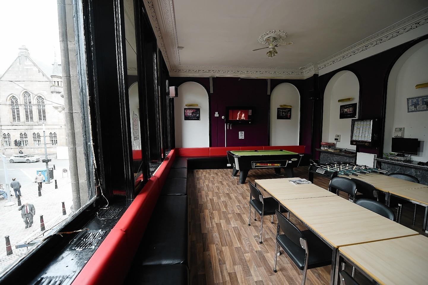Inside the Highlander hostel