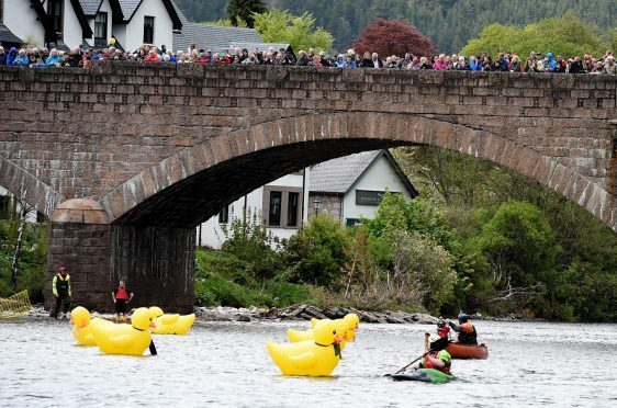The Ballater Duck festival and duck race. Picture by Jim Irvine