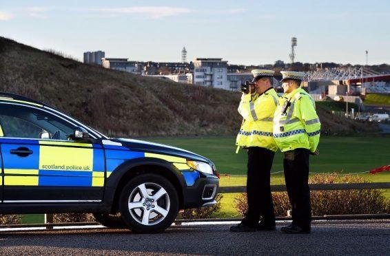Police officers on patrol in Aberdeen