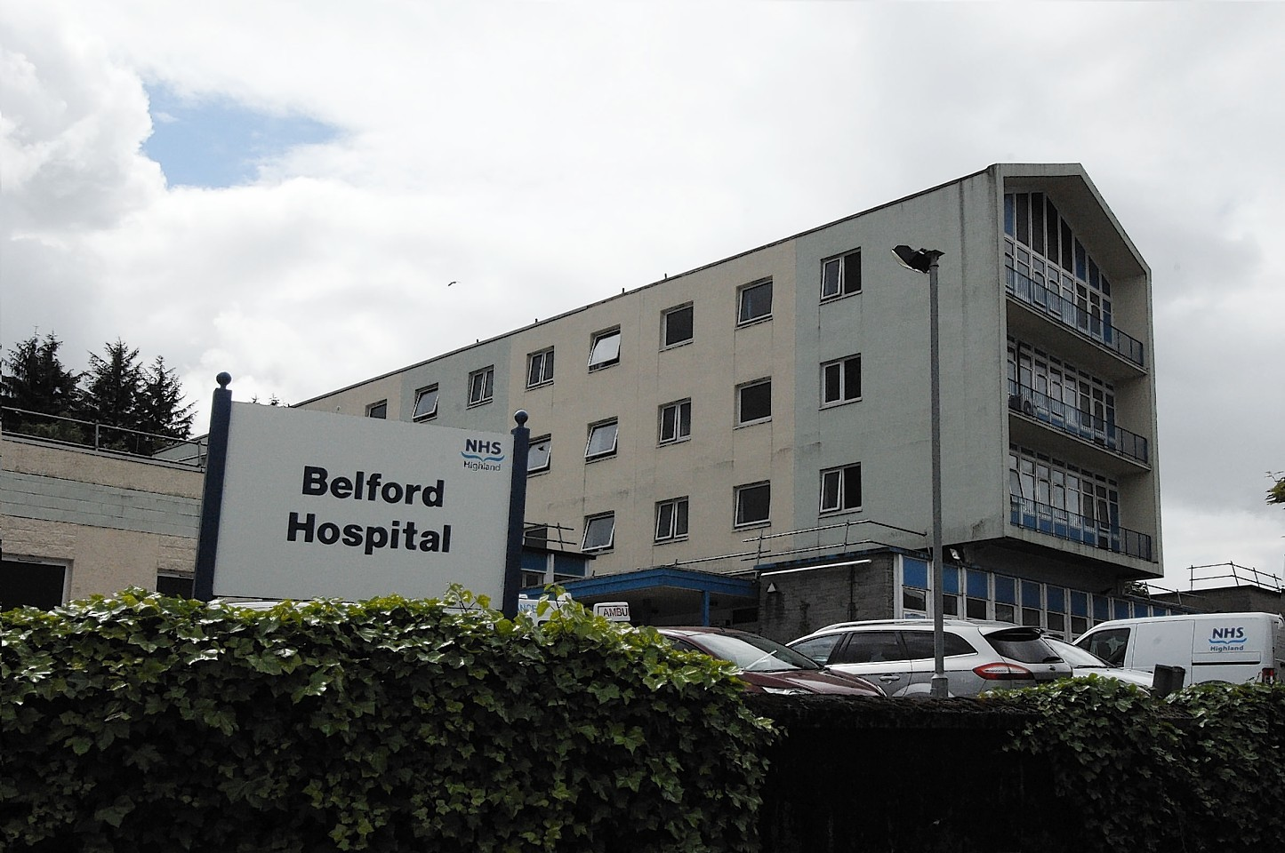 Belford Hospital in Fort William, where the woman was airlifted to.