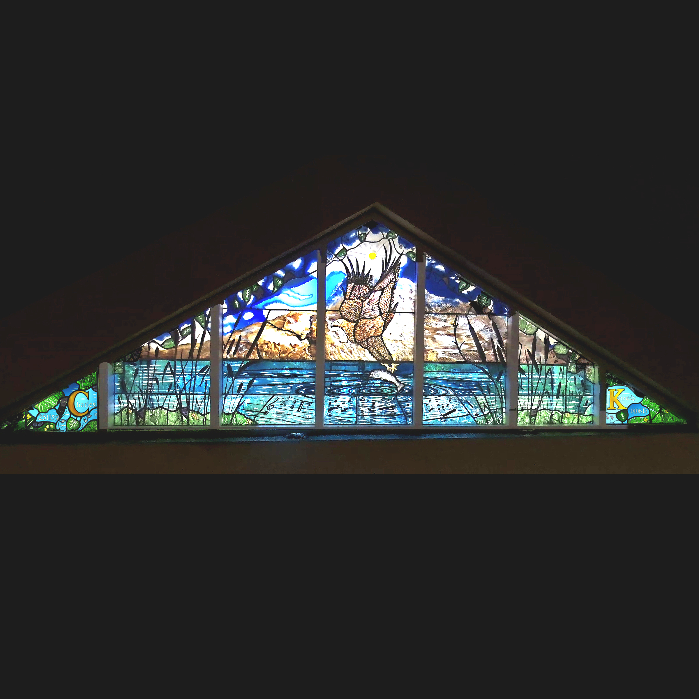 The stained glass window in Charles Kennedy's parish church that will be unveiled on the anniversary of his death