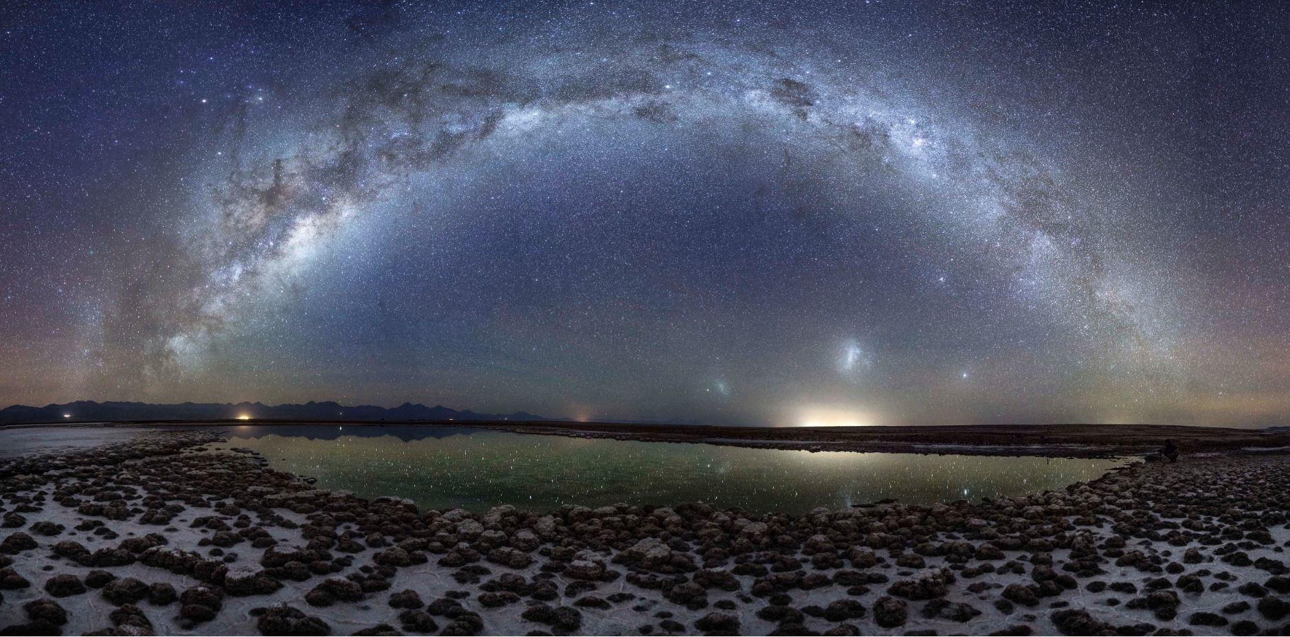 Night sky over the Atacama Salt Flat, Chile. Photo by Dr Leon Gurevitch