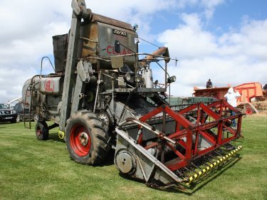 A Morayshire registered Claas SF combine exhibited by Eric Proctor of Alford