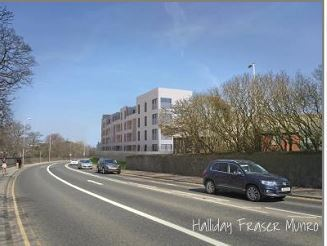 An artist's impression of how the new flats could look