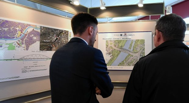 Public consultation for the new bridge at Bridge of Dee at Inchgarth Community centre, Aberdeen. Picture by Jim Irvine