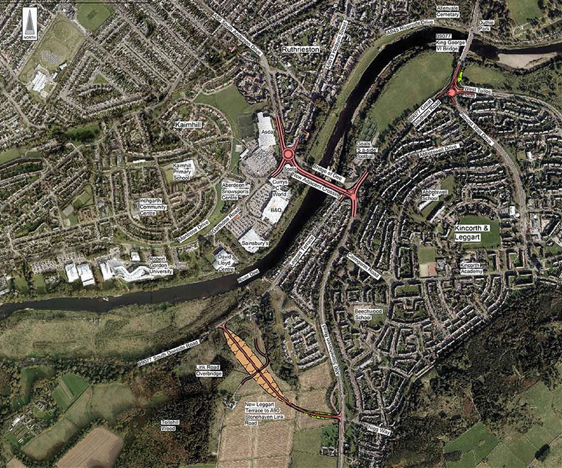 Artist impression map showing the planned new bridge