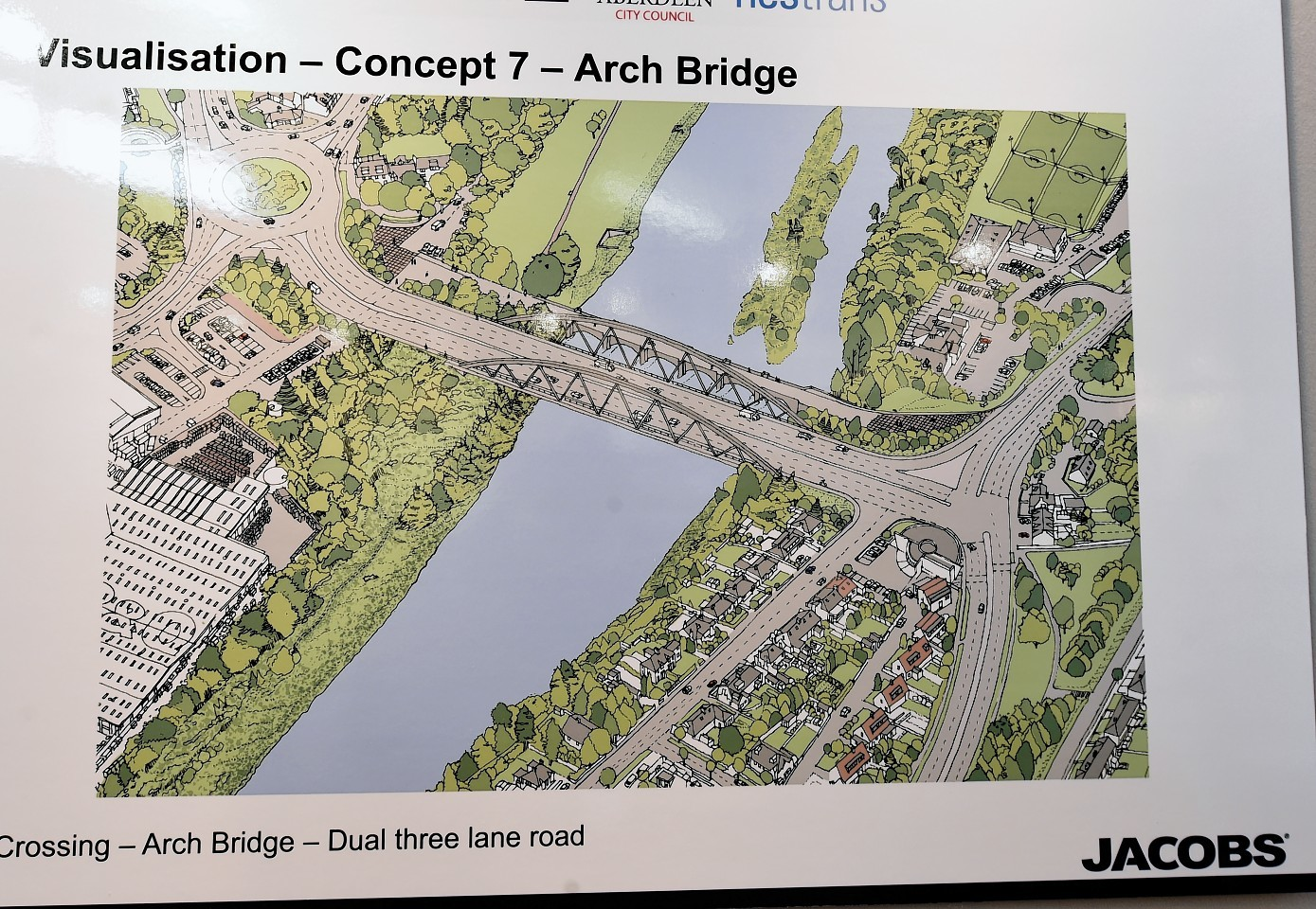 Residents were given the chance to have their say on the bridge plans.