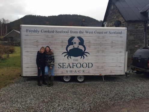 Fenella MacRae and Kirsty Scobie of the Seafood Shack.
