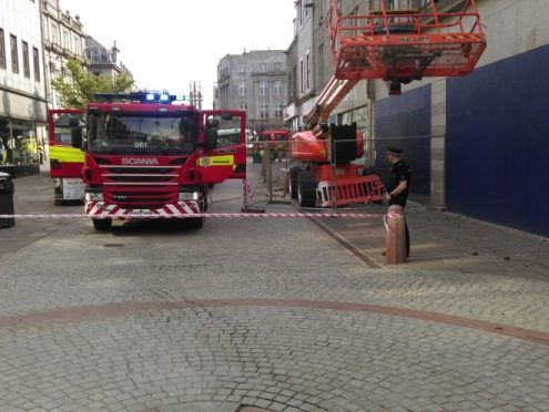 Fire crewmen at the scene