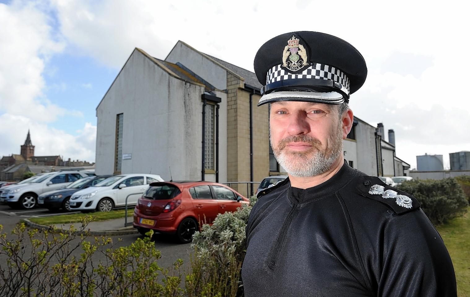 Orkney area commander Chief Inspector Gordon Deans