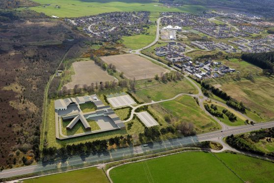 Artist's impression of how the new jail could look at Milton of Leys.