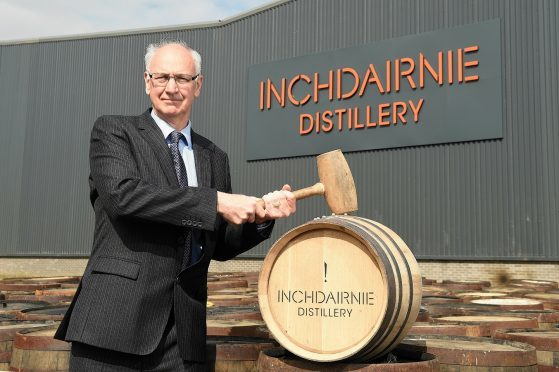 Launch of InchDairnie Distillery in Glenrothes with InchDairnie Managing Director Ian Palmer