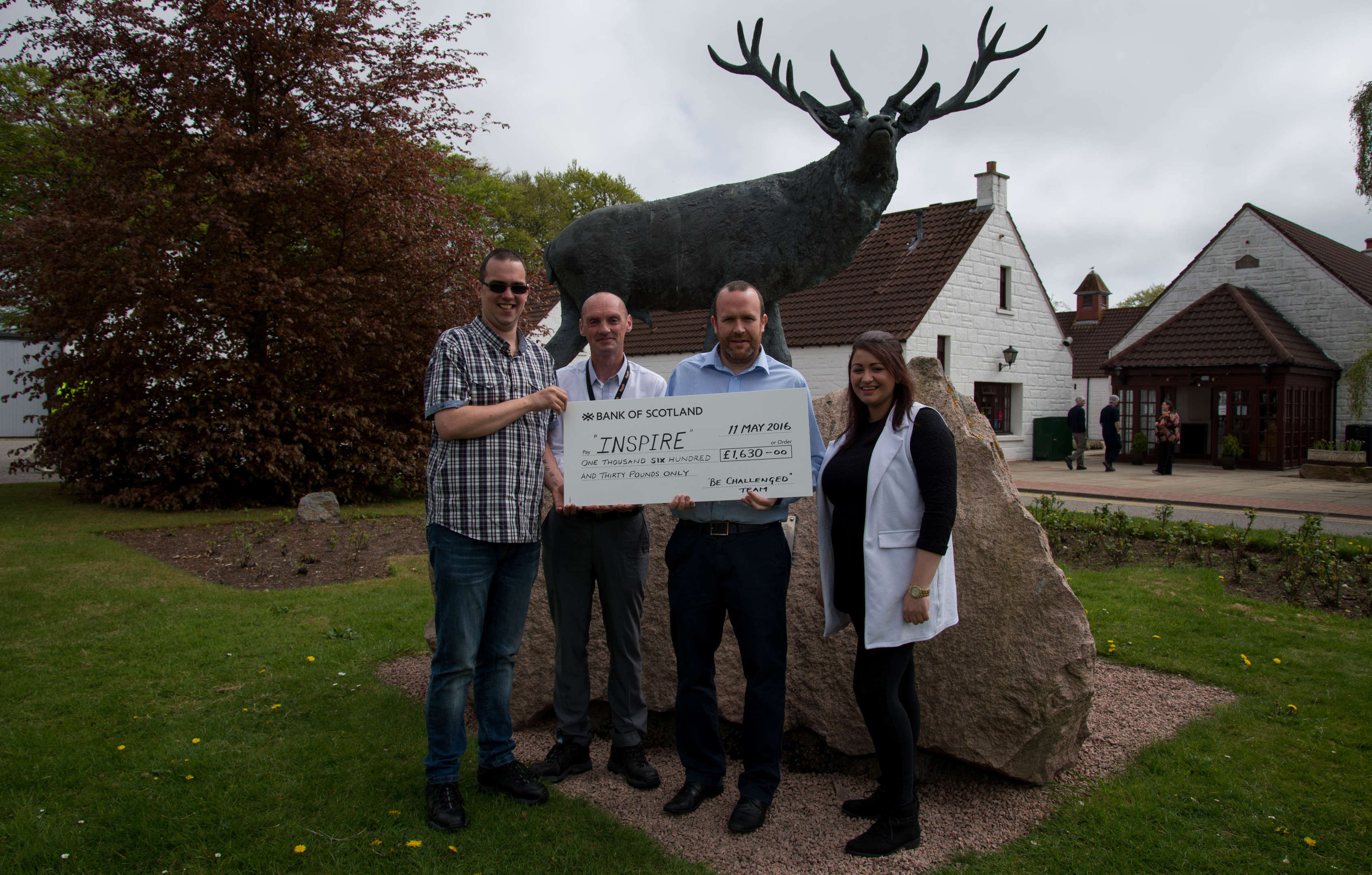 Pictured: James Vann, Baxters; Allan Cameron, Baxters; Andrew Reid, Inspire; and Terri-Jayne Cameron, Baxters