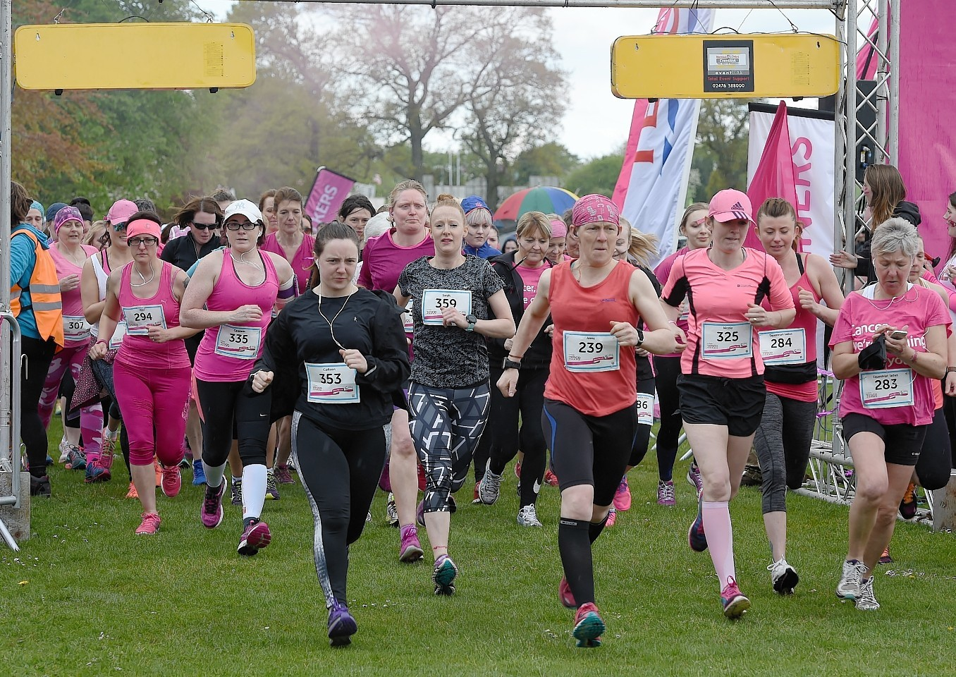 Sunday's Inverness Race for Life at the Bught Park.